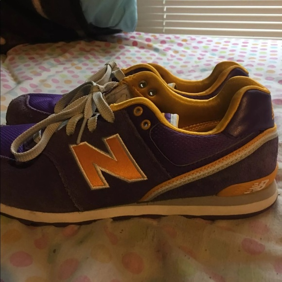 purple and yellow new balance 574